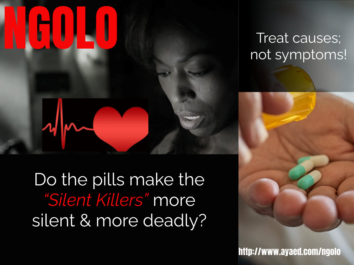 Meds that block signals and only treat symptoms only mask the silent killers!